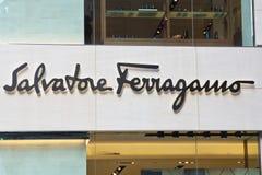 Знак компании Salvatore Ferragamo Стоковые Изображения