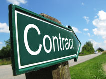 Знак контракта Стоковая Фотография