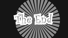 Знак конца одушевил отснятый видеоматериал конспекта outro зажима движения бесплатная иллюстрация