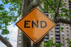 Знак конца Стоковое Изображение