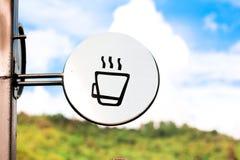 Знак кофейни Стоковое фото RF