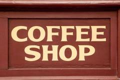 знак кофейни Стоковая Фотография RF