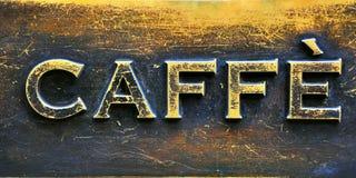 знак кофе штанги Стоковое Изображение RF