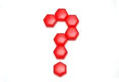знак красного цвета вопроса Стоковое фото RF