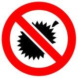Знак красного цвета запрета иллюстрация вектора
