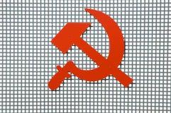 знак красного цвета коммунизма Стоковая Фотография RF