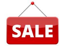 Знак красного цвета продажи иллюстрация вектора