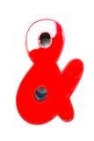знак красного цвета 2 деталей Стоковое фото RF