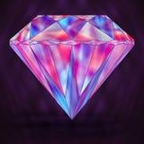 Знак красочное фиолетовое розовое Кристл иллюстрация вектора