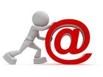 знак кренов людей почтовый Стоковая Фотография