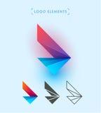 Знак крылов вектора абстрактный Комплект элементов логотипа фирменного стиля воздушных судн Значок применения Стоковые Фотографии RF
