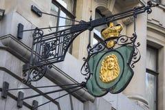 Знак кузнца Лондона на улице ломбарда Стоковое Изображение