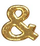 знак купели золотистый Стоковые Фотографии RF