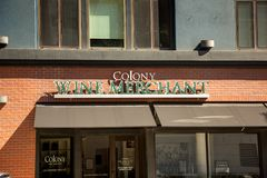 Знак купца вина колонии стоковое фото