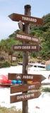знак курорта Стоковые Изображения RF
