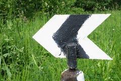 Знак к левой стороне Стоковое фото RF