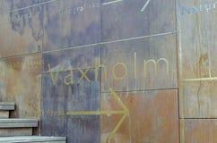 Знак к Vaxholm стоковые фото