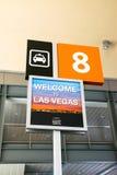 Знак Лас-Вегас Невада такси авиапорта Стоковое Фото