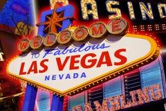 Знак Лас-Вегас Стоковая Фотография RF