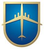 знак логоса авиапорта самолета иллюстрация вектора