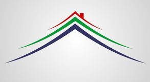 знак логоса дома Стоковые Фото