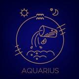 Знак, логотип, татуировка или иллюстрация зодиака водолея бесплатная иллюстрация