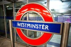 Знак Лондон подземный Стоковое Фото