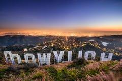 Знак Лос-Анджелес Голливуда стоковая фотография rf