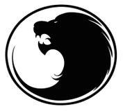 знак льва кнопки Стоковое Изображение