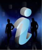 знак людей 3d info Стоковое Изображение