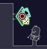 знак магазина человека казино Стоковое Изображение RF