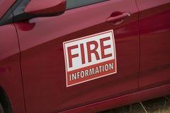 Знак магнита данным по огня на корабле управляя огнем Terwilliger в национальном лесе Willamette Стоковое фото RF