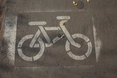 Знак майны велосипеда на мостоваой Стоковые Изображения RF