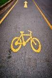 Знак майны велосипеда стоковое изображение