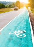 Знак майны велосипеда на улице Стоковые Изображения