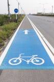 Знак майны велосипеда Стоковая Фотография RF