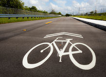 Знак майны велосипеда стоковое фото