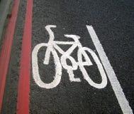знак майны bike Стоковые Изображения RF