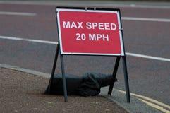 Знак максимальной скорости Стоковое фото RF