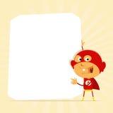 знак малыша героя супер Стоковые Изображения