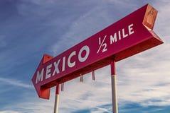 Знак Мексики, Индианы Стоковая Фотография