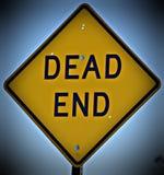 Знак мертвого конца Стоковое Фото