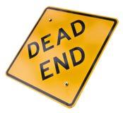 знак мертвого конца Стоковое фото RF