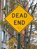 знак мертвого конца Стоковые Фотографии RF