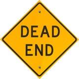 Знак мертвого конца Стоковые Фото