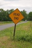Знак мертвого конца Стоковое Изображение RF