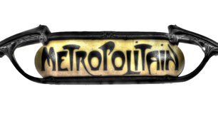 Знак метро парижского метро Стоковое Изображение