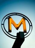 знак метро Стоковое Изображение