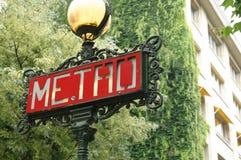 Знак метро Стоковое Изображение RF