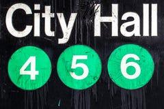 Знак метро NYC Стоковые Изображения RF